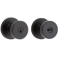 Kwikset Pismo Entry Lock in Iron Black