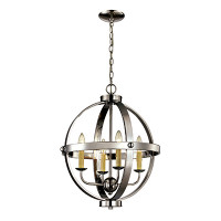 Active Home Centre 4 Light Orb Chandelier in Polished Chrome