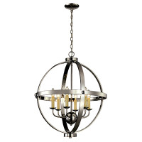 New Arrival - Active Home Centre 6 Light Orb Chandelier in Polished Chrome