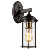 New Arrival - Active Home Centre 1 Light Outdoor Wall Sconce in Oil Rubbed Bronze and Antique Brass