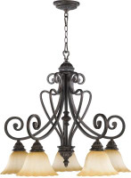 New Arrival - Active Home Centre Summerset 5 Light Chandelier in Toasted Sienna