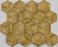 "Active Home Centre 17AW10 10""x 12"" Hexagonal Glass Mosaic in Beige"