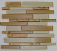 "Active Home Centre 16120 12""x 12"" Linear Glass Mosaic in Beige"
