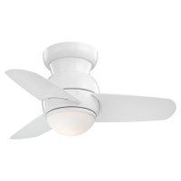 "Minka-Aire Spacesaver 26"" LED 3 Blade Indoor Ceiling Fan in White"