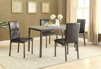 Coaster Garza 5 Piece Dining Table Set in Black