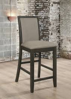 Coaster Clarksville Upholstered Counter Height Stool in Gray and Charcoal