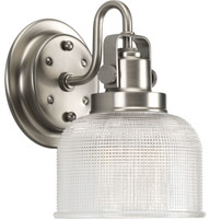 Active Home Centre Vanity 1 Light Wall Sconce in Satin Nickel