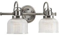 Active Home Centre Vanity 2 Light Wall Sconce in Satin Nickel