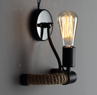 Active Home Centre 1 Light Wall Sconce in Black
