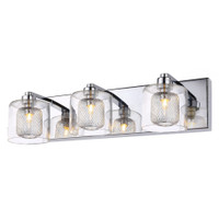 Active Home Centre Vanity 3-Light Wall Sconce in Chrome