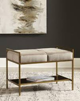 "New Arrival - Coaster 28"" Bench in Gold"