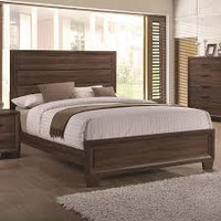 Coaster Brandon King Panel Bed-Frame in Warm Brown