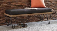 Coaster Scott Bench in Black and Natural