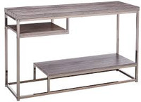 Coaster Sofa Table in Weathered Gray