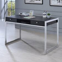 "New Arrival - Coaster 49"" Writing Desk in Dark Charcoal"