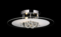 Active Home Centre 1-Light Ceiling Light in Glass with Crystals
