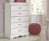 New Arrival - Ashley Anarasia 5-Drawer Chest in White