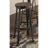 New Arrival - Ashley Challiman Bar Stool in Rustic Brown