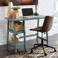 "New Arrival - Ashley Mirimyn 42"" Home Office Desk in Teal"