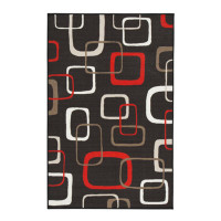 """New Arrival - Ashley Johan 5'3"""" x 7'6"""" Medium Rug in Black and Red"""