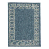 "Ashley Jeb 5'3"" x 7'3"" Medium Rug in Blue and Tan"