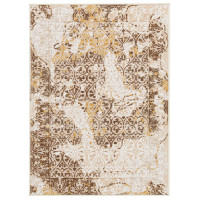 """New Arrival - Ashley Jariath 4'4"""" x 6'9"""" Medium Rug in Ivory and Brown"""