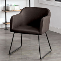 Furniture of America Ferdinand Accent Chair in Dark Brown