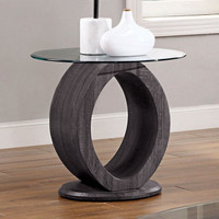 New Arrival - Furniture of America Lodia End Table in Grey