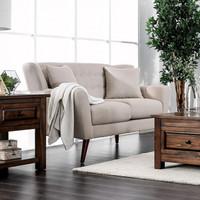 New Arrival - Furniture of America Brecker Loveseat in Beige