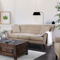 New Arrival - Furniture of America Brecker Sofa in Beige