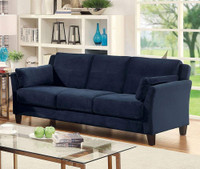 Furniture of America Ysabel Sofa in Navy