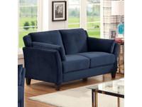 Furniture of America Ysabel Loveseat in Navy