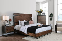 Furniture of America Fulton Queen Panel Bed-frame in Dark Walnut
