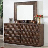 Furniture of America Eutropia Dresser in Warm Chestnut