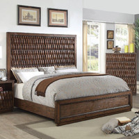 Furniture of America Eutropia Queen Panel Bed-frame in Warm Chestnut