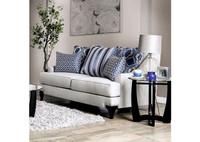 New Arrival - Furniture of America Sisseton Loveseat in Light Grey