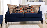 New Arrival - Furniture of America Sisseton Sofa in Navy
