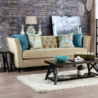 New Arrival - Furniture of America Monaghan Sofa in Camel