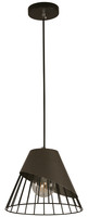 Active Home Centre 1 Light Pendant in Dark Grey and Black