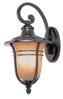 Active Home Centre Outdoor 1-Light Wall Sconce Fixture in Black