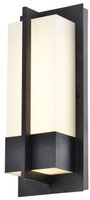 Active Home Centre Large Outdoor 1-Light Wall Sconce in Sand Black