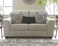 Ashley Pariston Loveseat in Alloy