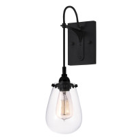 Active Home Centre 1 Light Wall Sconce in Satin Black