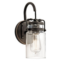 New Arrival - Active Home Centre 1 Light Wall Sconce Fixture in Oil Rubbed Bronze