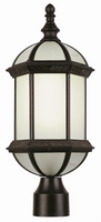 Active Home Centre 1 Light Outdoor Post Mount Fixture in Black