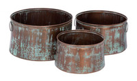 Active Home Centre 26905 Rustic Metal Planter Set