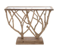 Active Home Centre 54332 Wood and Glass Console Table