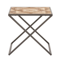 Active Home Centre 85529 Wood and Metal Side Table