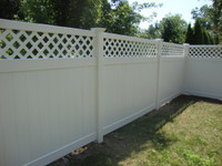 New Arrival - Active Home Centre 6'x 8' PVC Privacy Fence Panel with Lattice in White