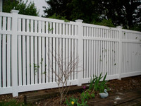 New Arrival - Active Home Centre 6'x 8' PVC Semi-Privacy Fence Panel in White